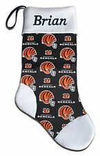 Personalized NFL Cincinnati Bengals Football Christmas Stocking Embroidered