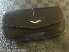 Genuine Vertu Ascent Ti Horizontal Black and Red leather Case Super RARE