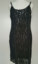 Bnwt Allsaints Asha dress.chain detail.embellished.uk 14 £278