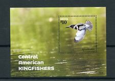 Nevis 2015 MNH Central American Kingfishers 1v S/S Kingfisher Birds Stamps