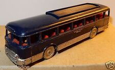 JOUEF MADE IN FRANCE 1960 AUTOCAR CAR BUS CHAUSSON BICOLORE BLEU GRIS HO 1/87 a