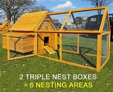 LARGE CHICKEN HEN HOUSE COOP POULTRY ARK RUN BRAND NEW RABBIT HUTCH