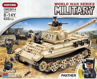 Oxford Block PANTHER OM33014 World War Series Military Tank Bricks Building Toy