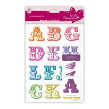 CARNIVAL ALPHABET CLEAR STAMPS (FULL ALPHABET in 2 sets) - DoCrafts/Papermania