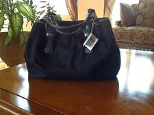 CHRISTIAN DIOR Large Black Bag With Buckles