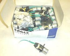 NOS! LOT of 90 EAGLE PUSH BUTTON LAMP SOCKETS PARTS, AS PICTURED