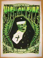 2006 High on Fire - Silkscreen Concert Poster by Richie Goodtimes