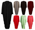 NEW WOMENS LADIES OVERSIZED SHORT SLEEVE BATWING OPEN SLOUCH MAXI CARDIGAN
