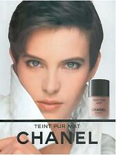 ▬► PUBLICITE ADVERTISING AD Teint pur mat maquillage CHANEL 1991