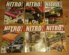 6 x Nitro ! N.D.R.A Magazines, Muscle cars , Rods Drags, bikes Street and Strip