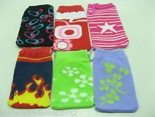 3 X Cute Cartoon Sock Pouch for Mobile Phone Coin Mixed Colors Designs (mp-b4)