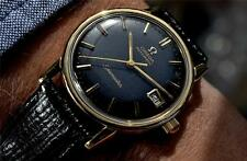 SUPERB OMEGA SEAMASTER AUTO DATE 9ct SOLID GOLD BLACK DIAL MENS 1970 VINTAGE 565