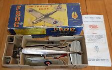 VINTAGE TRIANG FROG MARK V SINGLE SEAT FIGHTER PLANE MODEL AIRCRAFT BOXED RARE