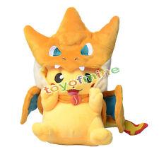 Mignon Pokémon Pikachu Avec Dracaufeu chapeau en peluche Peluche Poupée animaux