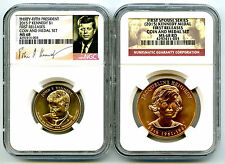 2015 KENNEDY NGC MS68 RD FIRST SPOUSE DOLLAR COIN & MEDAL SET FIRST RELEASES JP7