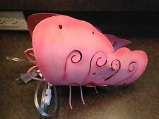 Vintage Pink Metal Butterfly Lamp Rare Unique Design