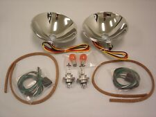 1937 1938 1939 Ford Halogen Headlight Conversion Reflector Kit w Turn Signal