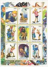"PINOCCHIO CARTOON CINEMA 5.5 ""X 7,5"" REPUBLIQUE DU Niger 1998 MNH STAMP SHEETLET"