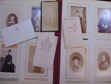 Collectif Lot de 142 photographies portrait XIXe (par Nadar et divers )...