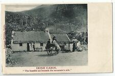 irish life postcard ireland animals horse horses irish cabin