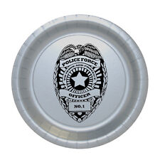 Police Force, Policeman Officer Party Supplies BADGE LUNCH DINNER PLATES