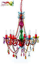 """Gypsy Color 6 Arm Large Chandelier H27"""" W23"""" Multi color Boho New Lighting"""