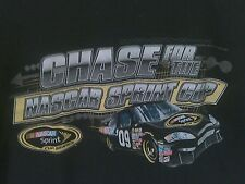NASCAR Chase For The Sprint Cup 2009 Schedule Black T-Shirt XL 100% Cotton