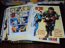 GI JOE  12INCH FIGURES CUSTOM REFERENCE GUIDE PART 1 IN PLASTIC COVERS