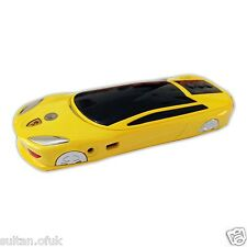 Stylish Yellow Mini Nano Car Shape Mobile Phone Dual Sim Geotel
