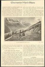 74 CHAMONIX MONT BLANC ARTICLE DE PRESSE 1924