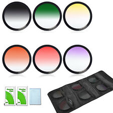 6pcs 58mm Graduated Color Lens Filter Kit For Canon Rebel T4i T3i T3 EOS 18-55mm
