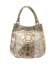 Nancy Gonzalez Gold & Silver Python Shoulder Bag