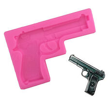 Gun Shape Silicone Fondant Mould  Chocolate Sugarcraft Cake Mold Baking Kitchen