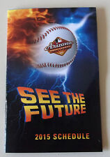 2015 Arizona Fall League AFL Pocket Schedule - Free Shipping