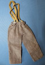 Vtg 1978 Mattel Grizzly Adams Original Outfit # 2377 Brown Pants with Suspenders
