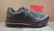 Nike Mens Air Max 2015 All Black Out Running Shoes (698902 020) Size: 12