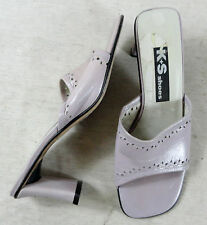 Tolle K+S SHOES Pantoletten Pumps Schuhe Leder flieder Gr. 4,5 ca. 37,5 Top !!!