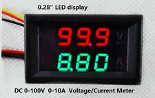 DC 0-100V 0-10A Tensione Corrente Meter LED DISPLAY DIGITALE MULTIMETER corrente 10A