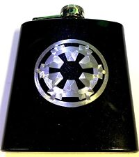 Storm Trooper Imperial Star Wars Engraved 6oz Glitter Hip Flask Liquor FEN-0019