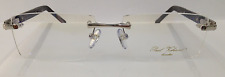 PAUL VOSHERONT PV303B C2 WHITE GOLD PLATED RIMLESS EYEGLASSES FRAME 57-17-145