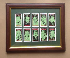 Masters of Horror incorniciato Card Set BORIS KARLOFF, VINCENT PRICE, Lon Chaney