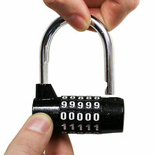 HEAVY DUTY COMBINATION LOCK GARAGE/GATE D/U DISC CODE GYM LOCKER DOOR PADLOCK