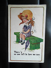 "Vintage Postcard ""Comique"" Series No 1653 ""There's No One Left to Love Me Now"""