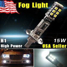 Xenon White H1 15W High Power LED Bulb Fog Driving DRL Day Beam Headlight Light