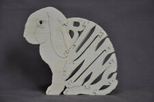 Lop Eared  Bunny Rabbit  Hand Cut Wooden Amish Made Puzzle Toy *NEW*