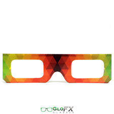 GloFX Paper Cardboard Diffraction Glasses – Geometric Rainbow Print Paper Stock