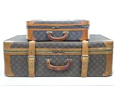 Authentic Vintage 2 Louis Vuitton Pair Suitcases Trunk Luggage Bags Stratos 400