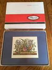Vintage PIMPERNEL PLACEMATS SET of 6 Traditional Deluxe Finish  Floral place/mat