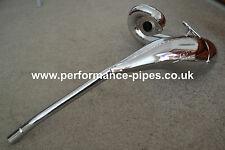 NEW!!  DEP Chrome Exhaust Expansion Pipe - YAMAHA DT125X DT125 X RE 2004-ON