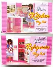 New Gloria, Barbie Doll House Furniture -Set of 2- Refrigerator, Kitchen